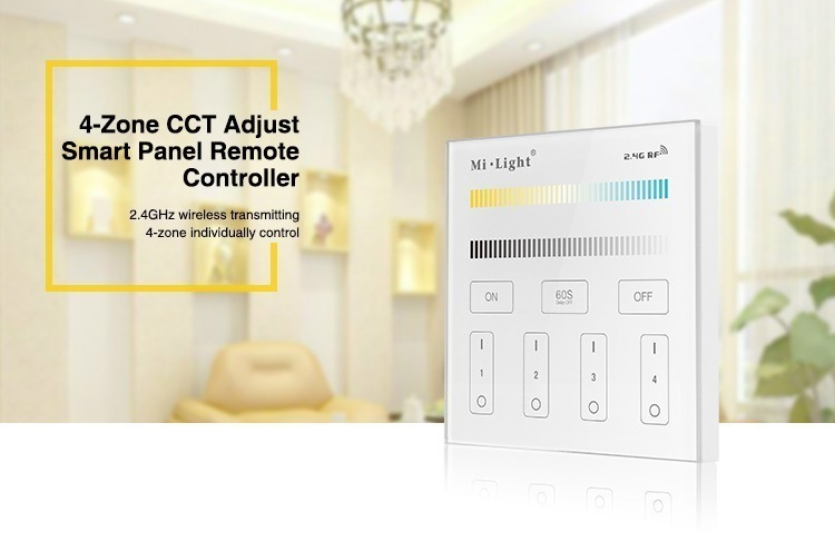 4-zone CCT adjust smart panel remote controller 2.4GHz