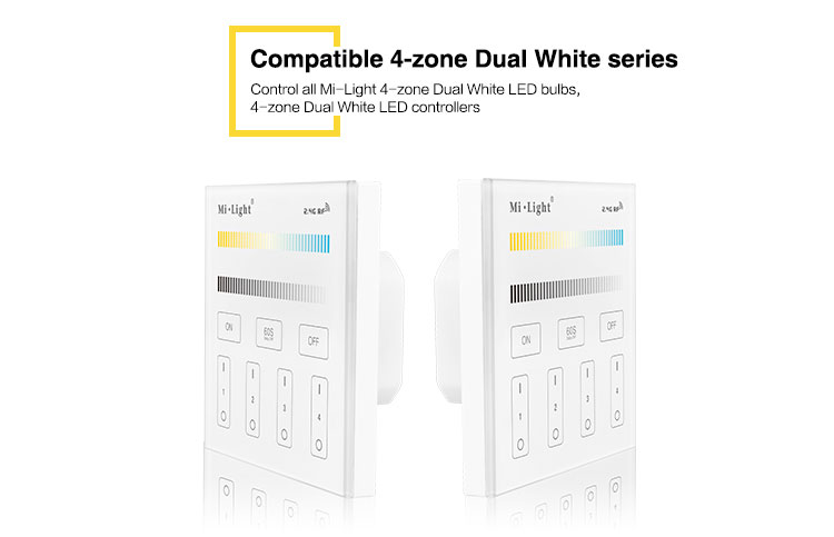 compatible 4-zone dual white series bulbs LED strip receivers smart home controllers