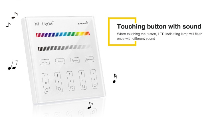 touching buttons with sound smart lighting wall controller milight