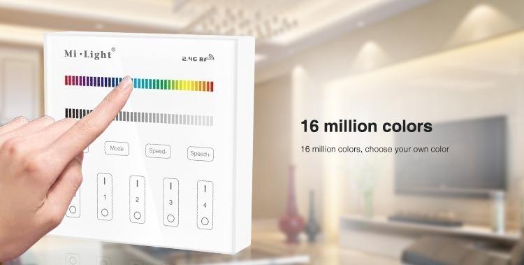 16 million colours sensitive touch panel LED strip LED lights remote controller