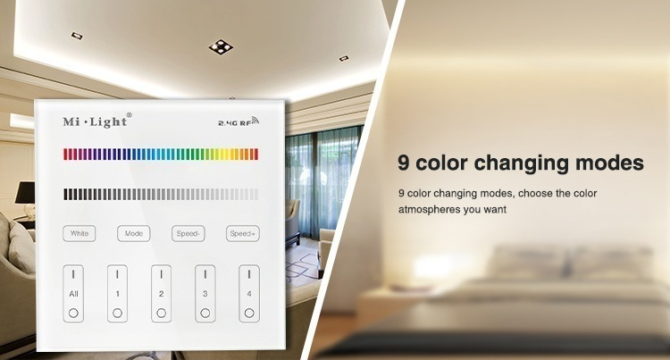 9 colour changing modes choose the atmosphere you want B3 milight controller