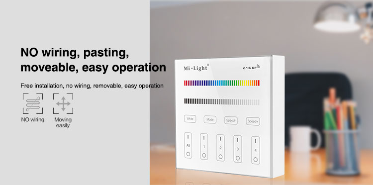 no wiring pasting easy to move easy operation smart panel controller