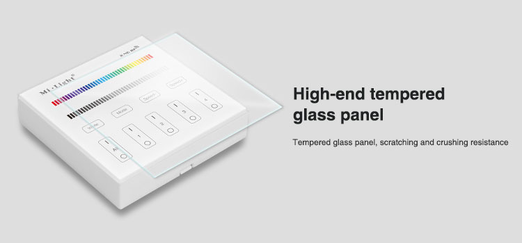 high-end tempted glass panel B3 milight controller