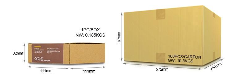 Mi-Light 4-zone RGB/RGBW smart panel B3 retail packaging wholesale cardboard box size