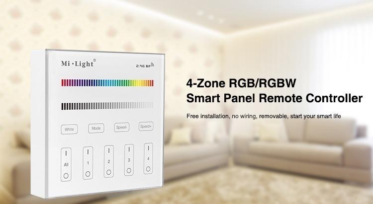 4-zone RGB RGBW smart panel remote controller milight
