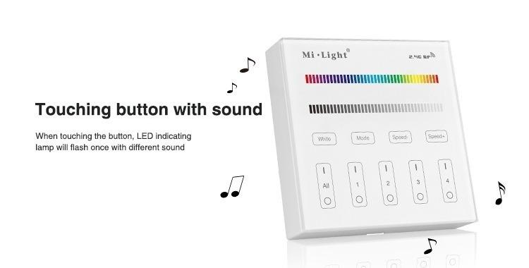 touching button with sound Mi-Light 4-zone RGB/RGBW smart panel B3