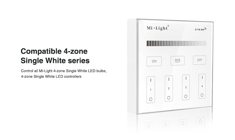 smart lighting panel compatible with all milight single white series LED bulbs LED strips LED panels