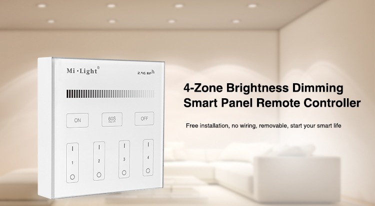 4-zone brightness dimming smart panel remote controller by milight chinese high quality product