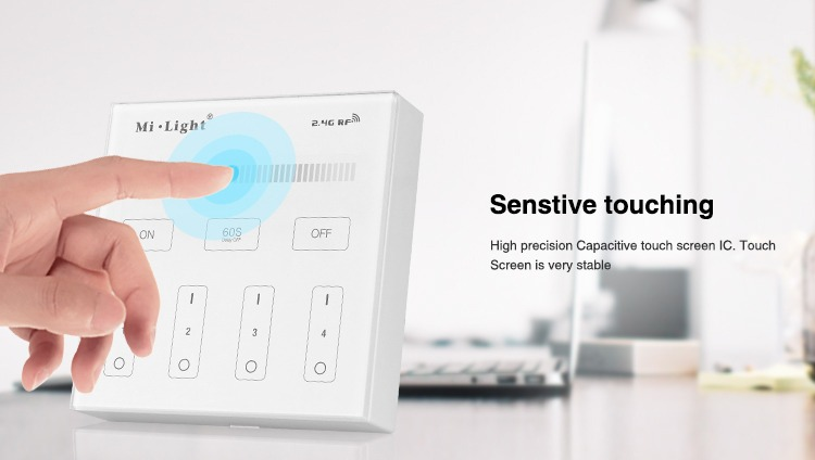 sensitive touching glass panel remote controller high quality LED lighting