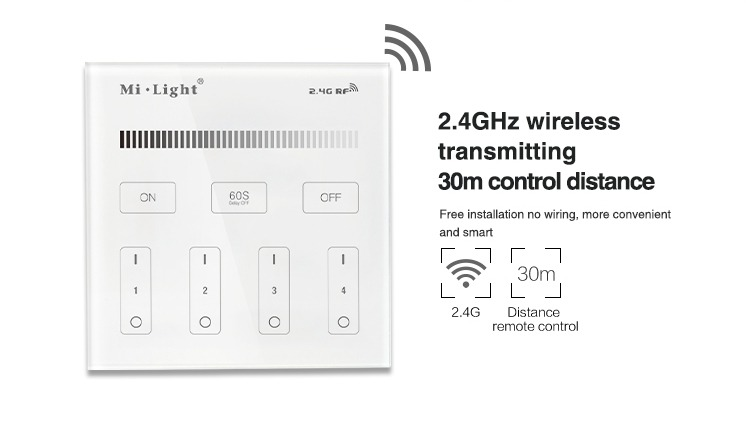 2.4GHz wireless transmitting 30m control distance better and cheaper than Philips and any other smart lighting on the market