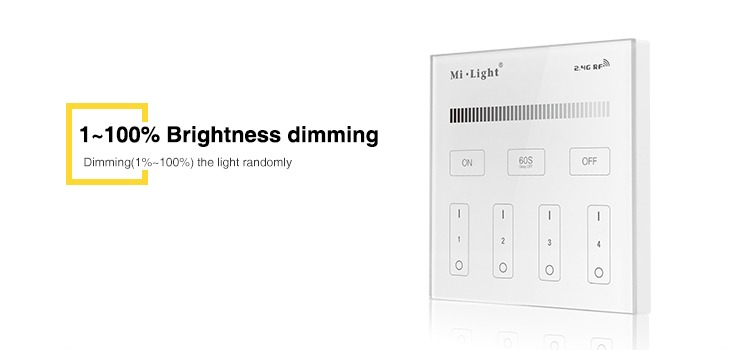 brightness dimming wall panel dimer simple controller