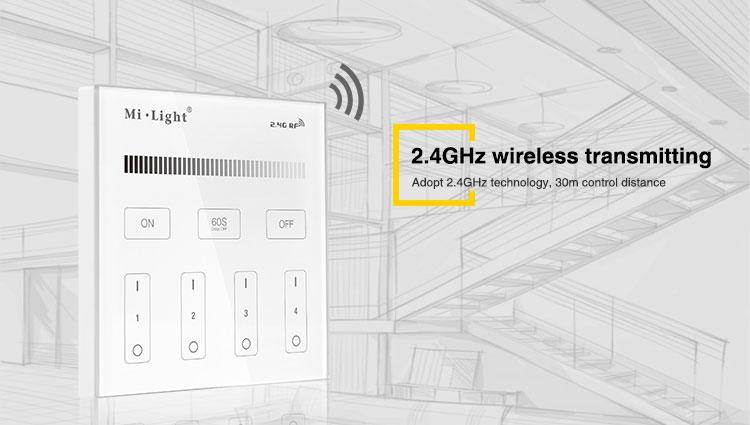2.4GHz wireless transmitting 30m distance control milight limitless buls