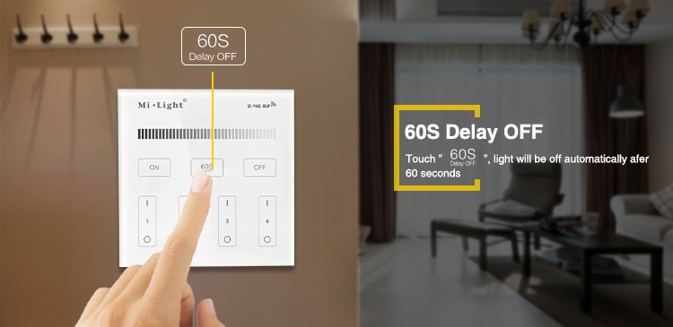 60s delay to switch off the lights milight functions