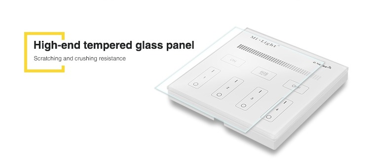 high end tempered glass panel scratching and crushing resistance IP20 indoor controller