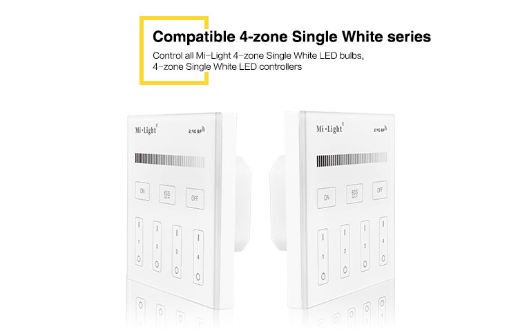 compatible with 4-zone single white series LED controllers LED bulbs LED downlights