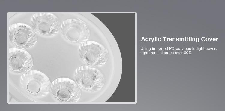 acrylic transmitting cover PC smart spotlight
