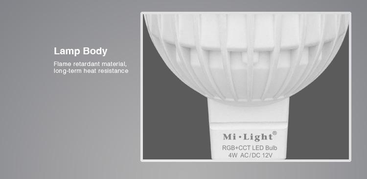 Mi-Light smart bulb body flame resistant material