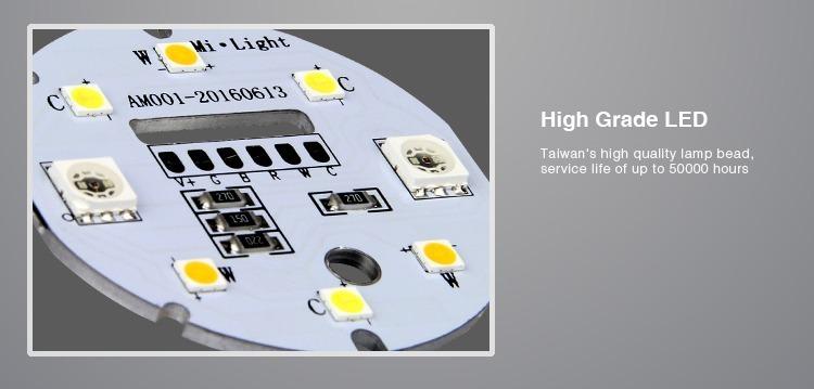 high grade LED chips Taiwan Mi-Light 50000h