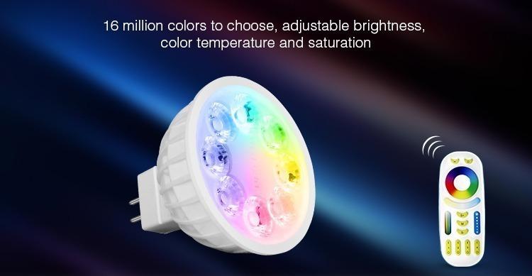 16 million colours smart Mi-Light spotlight MR16 colour temperature dimmable