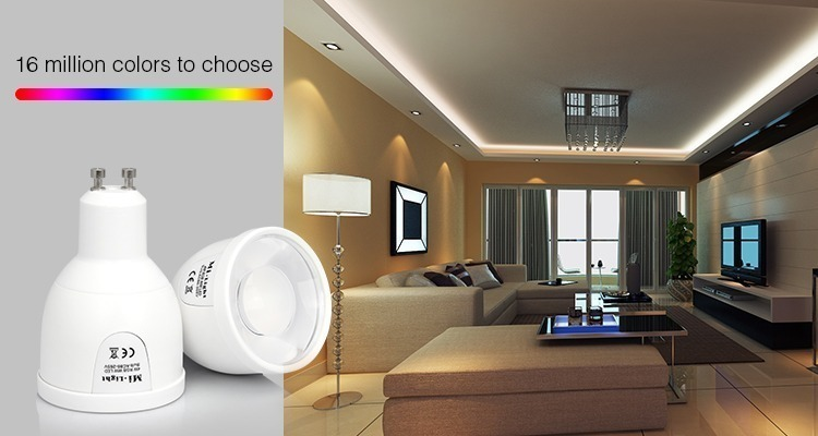 Mi-Light 5W GU10 RGBW LED spotlight FUT018 cold white 16 million colours to choose smart lamps