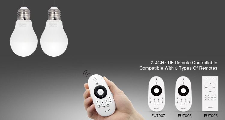 2.4GHz RF remote controllable smart lights compatible with FUT005 FUT006 and FUT007