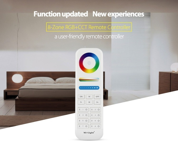 updated functionality new experience 8-zone 8-channel remote controller for Mi-Light smart lighting
