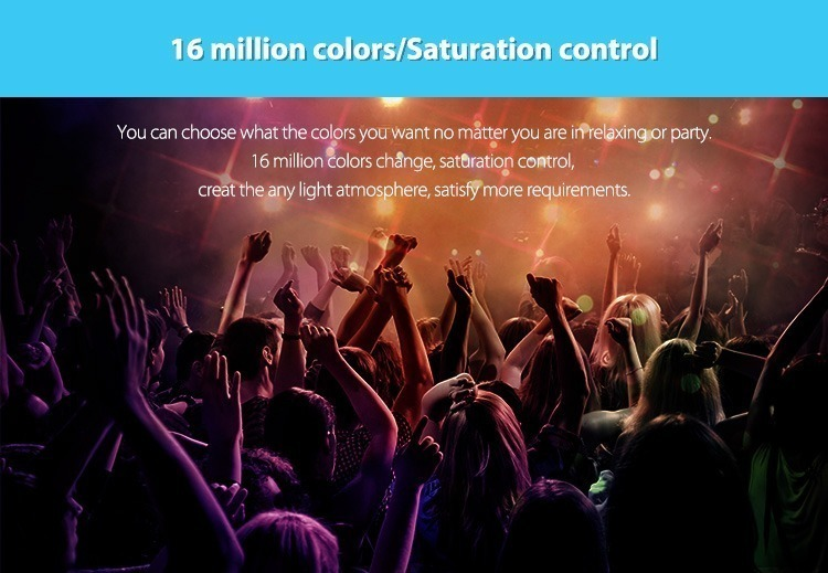 16 million colours saturation control great functionality smart home remote controller club disco pub lighting