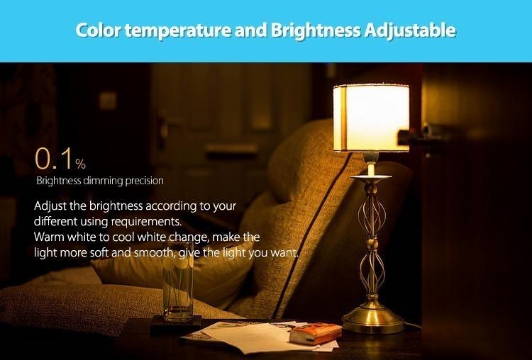 colour temperature and brightness adjustable warm white cold white milight lamp controller