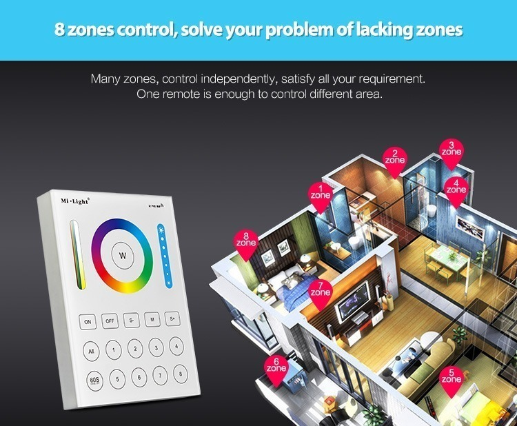 8-zones control great functionality freedom controlling lights home full house under control