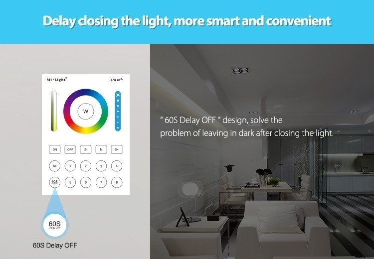 delay in switching OFF the light more smart and convinient lighting smart home 8 zones control WiFi 2.4GHz