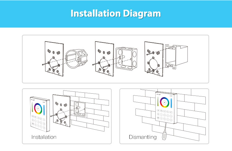 easy to install wall panel controller smart lighting remote installation diagram