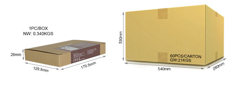 Mi-Light 8-zone smart panel remote controller B8 packaging wholesale and retail box eye catching beauty