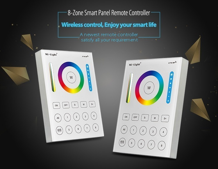 8-zone smart wall panel remote controlller wireless control smart home