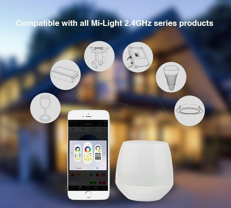 compatible with all Mi-Light 2.4GHz series products iBox1 bridge
