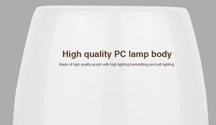 high-quality PC lamp body made of high quality acrylic with high lighting transmitting and soft lighting