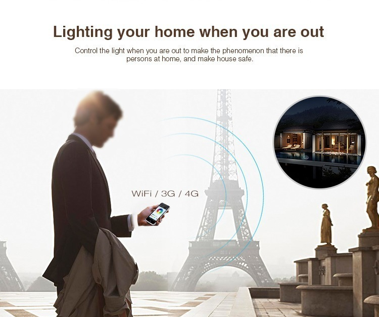 lighting your home when you are out security feature smart lighting WiFi bridge MiLight