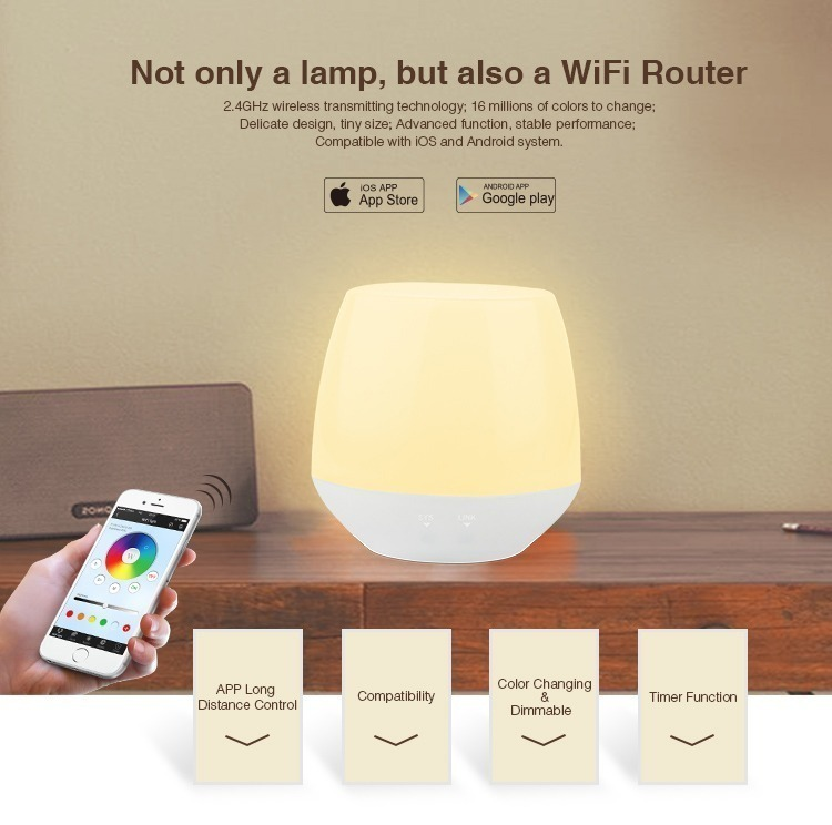 not only a lamp but also a WiFi router control apps are available on APP store and Google Play store
