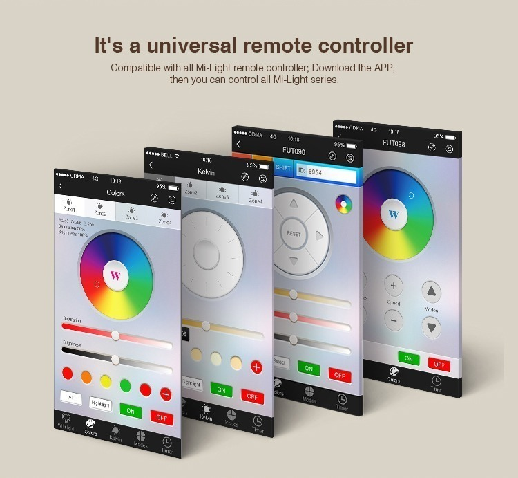 it's a universal remote controller smart lighting control WiFi remote controlled lighting