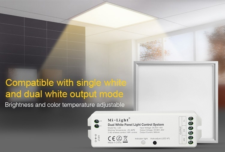 compatible with single white and dual white output mode brightness and colour temperature adjustment milight controller LS3