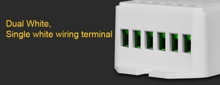 Dual white single colour wire terminals milight smart lighting LED panels