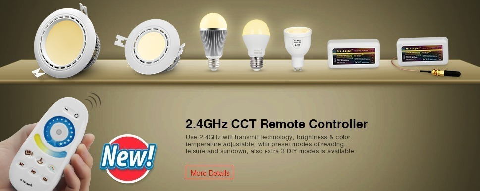 2.4GHz CCT remote controller WiFi transmiting technology DIY smart lighting