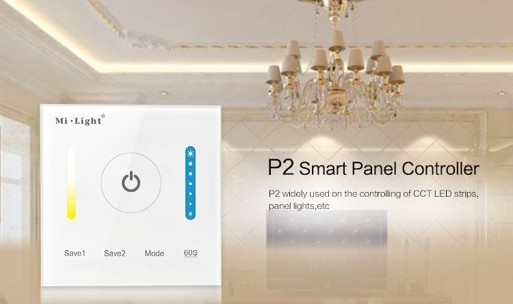 Mi-Light smart panel controller colour temperature P2 wall panel CCT