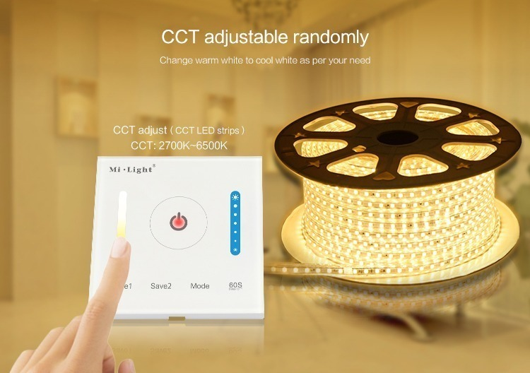 Mi-Light smart panel controller colour temperature P2 CCT adjustable