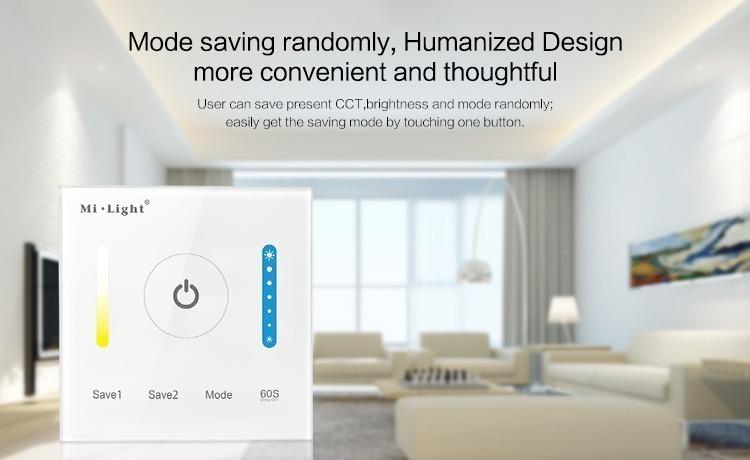 Mi-Light smart panel controller colour temperature P2 mode saving timer