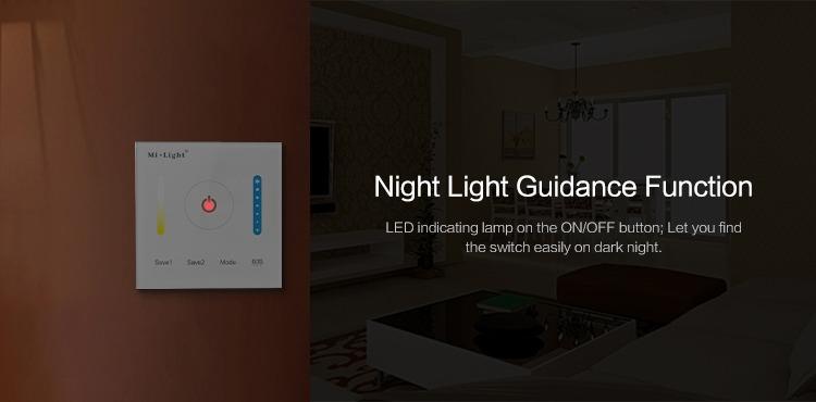 night light function Mi-Light smart panel controller colour temperature P2