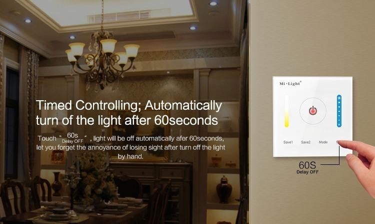timed controlling Mi-Light smart panel controller colour temperature P2
