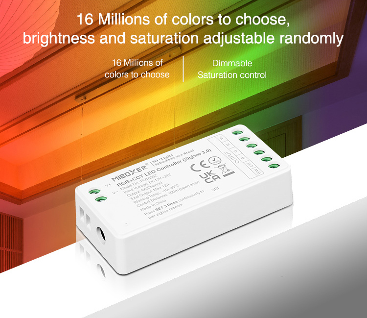 16 million colours to choose dimmable driver Mi-Light