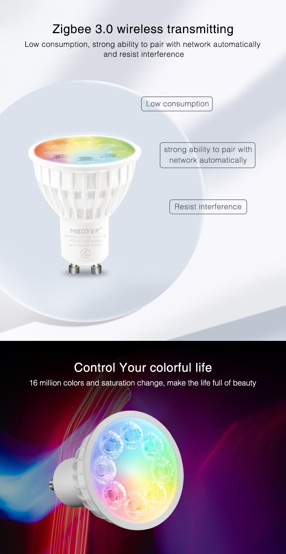 Zigbee GU10 LED light 4W