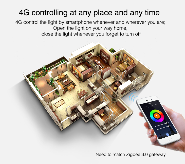 4G controlling at any time Zigbee light UK