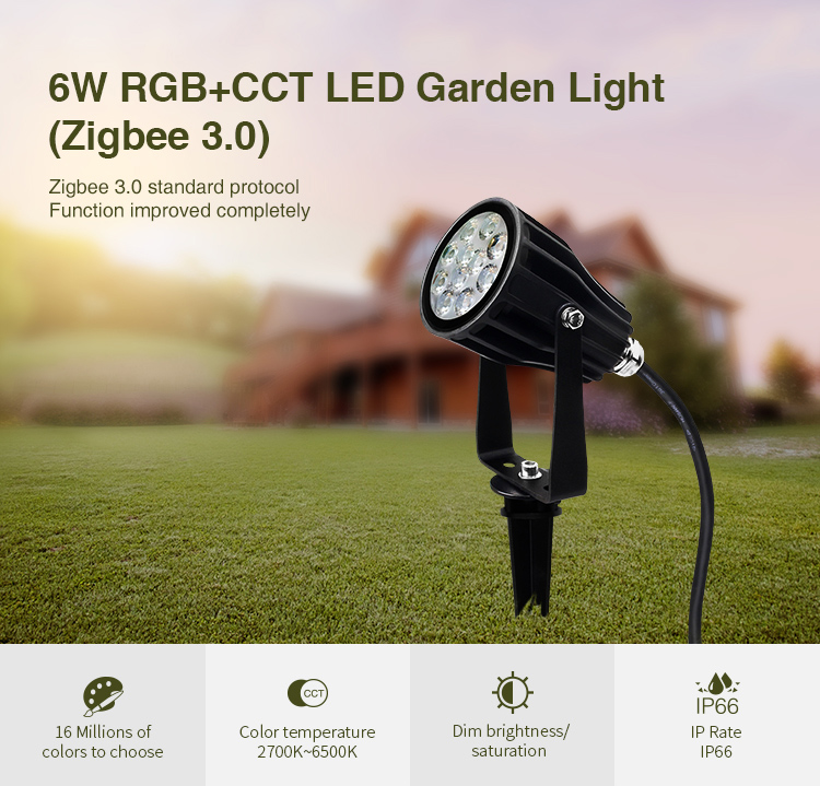 Smart MiBoxer Zigbee garden spotlight 550lm 6W 230V